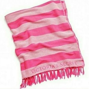 Victoria's Secret Pink Striped Throw